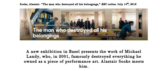The man who destroyed all his belongings