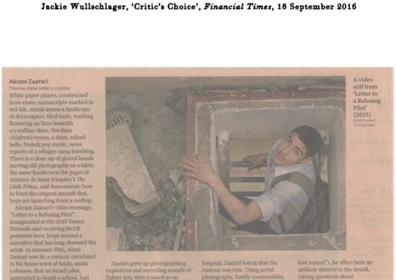 Critic's Choice', Financial Times