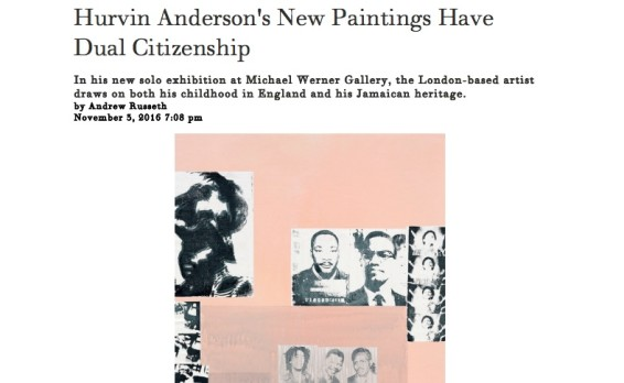 Hurvin Anderson's New Paintings Have Dual Citizenship
