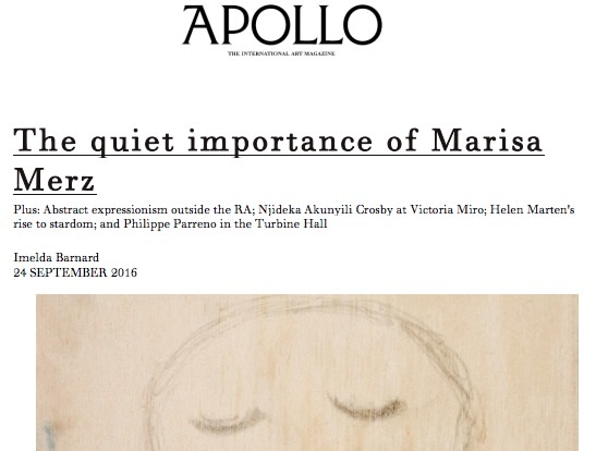 The quiet importance of Marisa Merz
