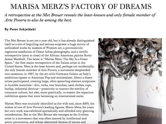 Marisa Merz's Factory of Dreams