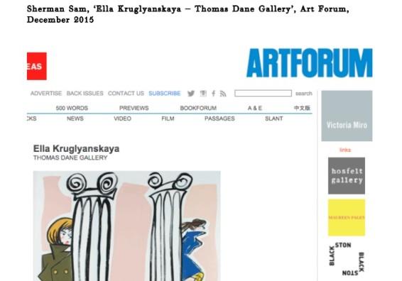 Ella Kruglyanskaya – Thomas Dane Gallery