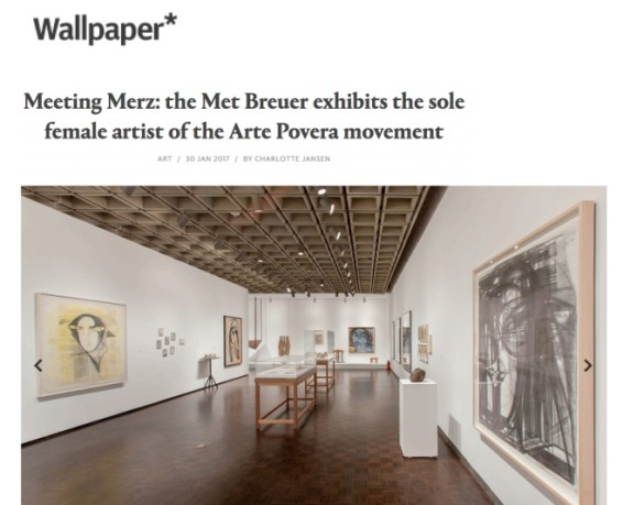 Meeting Merz: the Met Breuer exhibits the sole female artist of the Arte Povera movement