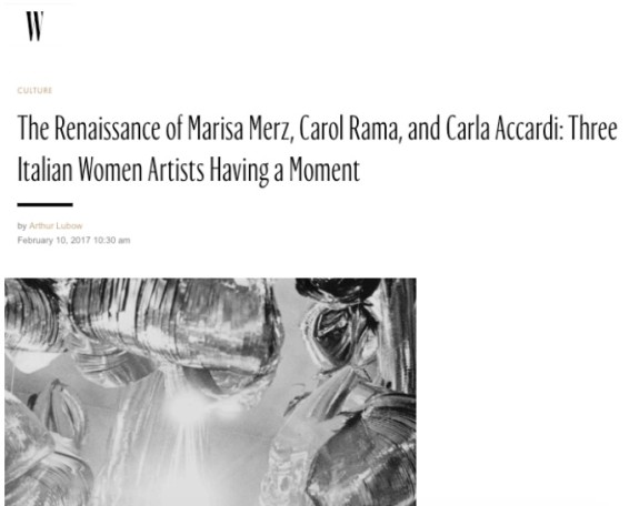 The Renaissance of Marisa Merz, Carol Rama, and Carla Accardi: Three Italian Women Artists Having a Moment