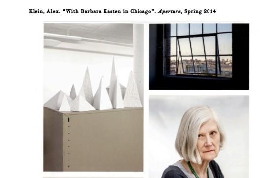 With Barbara Kasten in Chicago