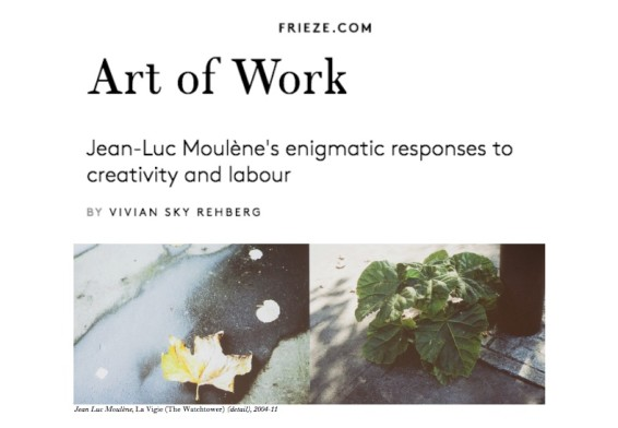 Jean-Luc Moulène's enigmatic responses to creativity and labour