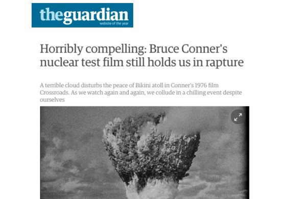 Horribly compelling: Bruce Conner's nuclear test film still holds us in rapture