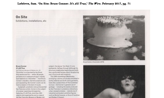 On Site: Bruce Conner: It's All True