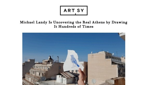 Michael Landy Is Uncovering the Real Athens by Drawing It Hundreds of Times