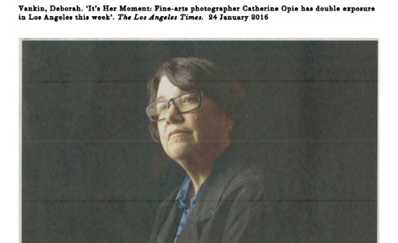 It's Her Moment: Fine-arts photographer Catherine Opie has double exposure in Los Angeles this week