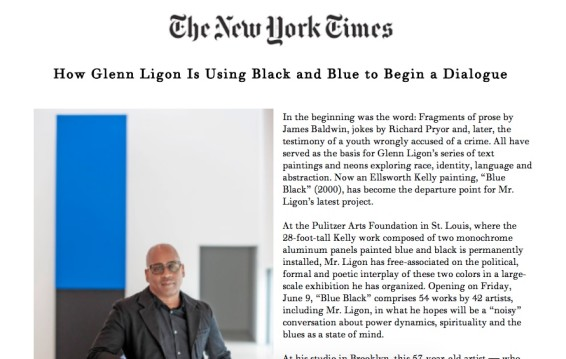 How Glenn Ligon Is Using Black and Blue to Begin a Dialogue