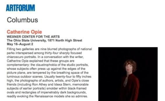 Critics' Picks: Catherine Opie