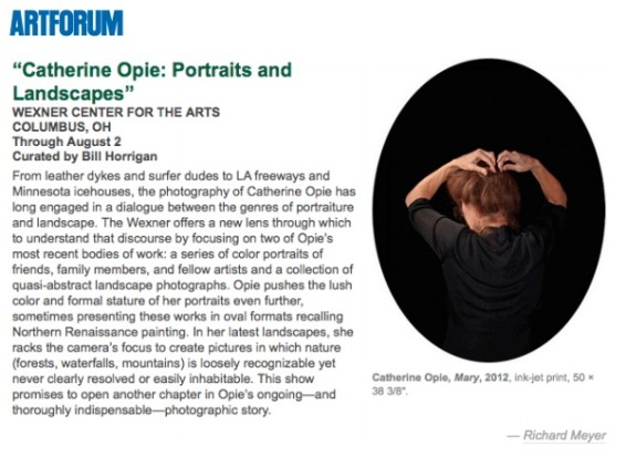 Museum Previews: 'Catherine Opie: Portraits and Landscapes