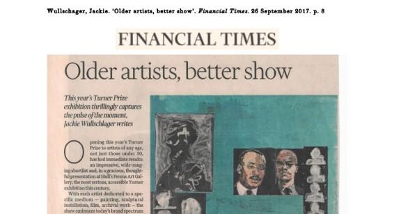 Older artists, better show