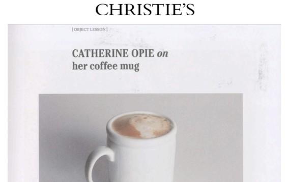 Catherine Opie on her coffee mug