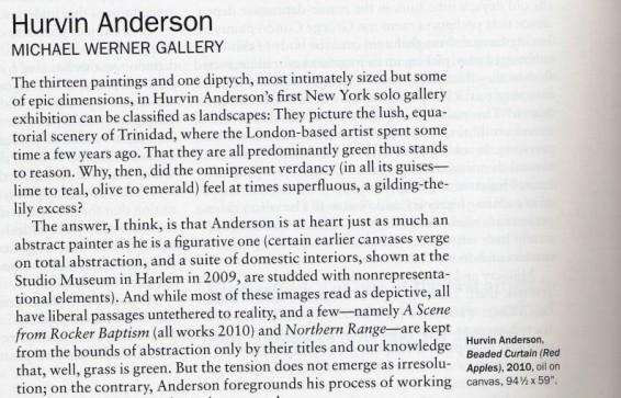 Hurvin Anderson: Michael Werner Gallery