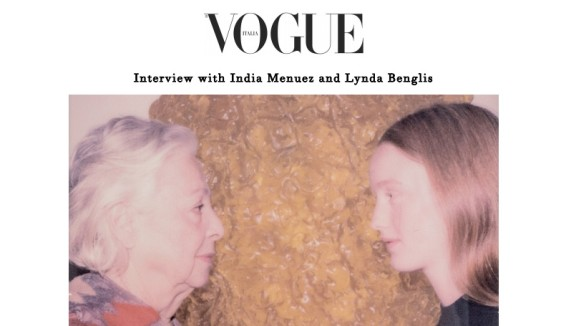 Interview with India Menuez and Lynda Benglis