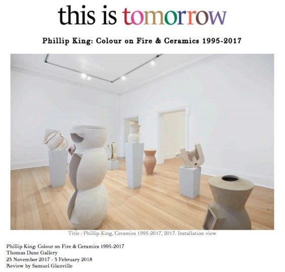 Phillip King: Colour on Fire & Ceramics 1995-2017