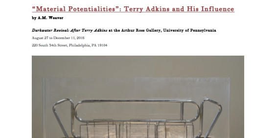 'Material Potentialities': Terry Adkins and His Influence