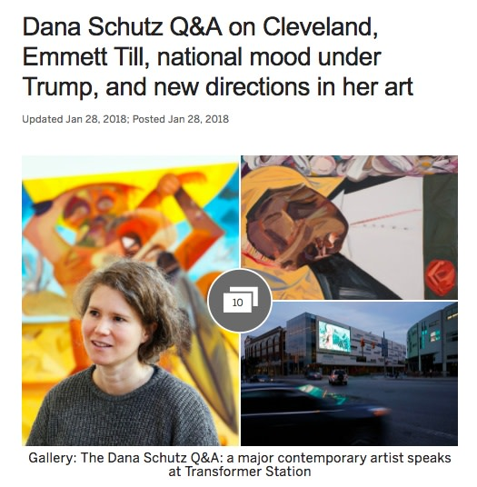 Dana Schutz Q&A on Cleveland, Emmett Till, national mood under Trump and new directions in her art