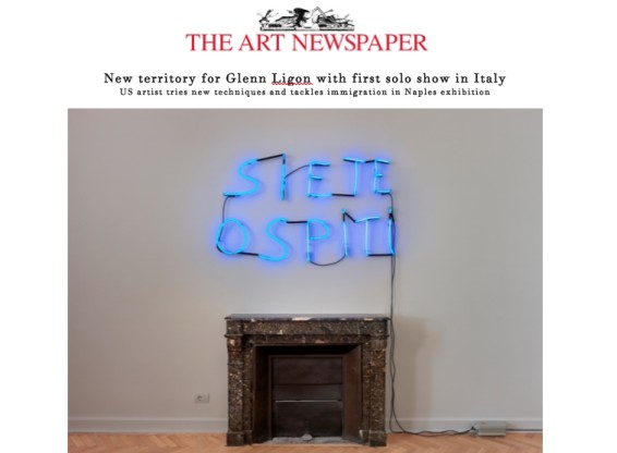 New territory for Glenn Ligon with first solo show in Italy
