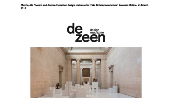 Loewe and Anthea Hamilton design costumes for Tate Britain installation