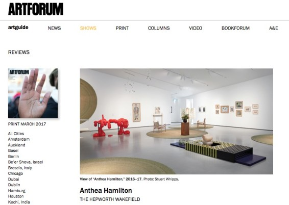 Reviews: Anthea Hamilton