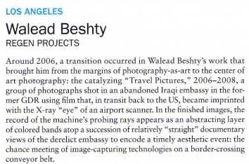 Walead Beshty: Regen Projects