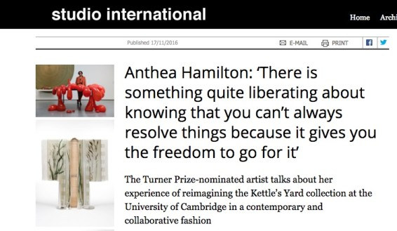Anthea Hamilton: 'There is something quite liberating about knowing that you can't always resolve things because it give