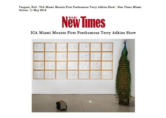 ICA Miami Mounts First Posthumous Terry Adkins Show