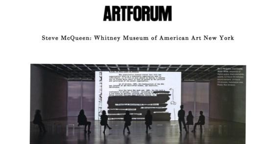 Steve McQueen: Whitney Museum of American Art New York