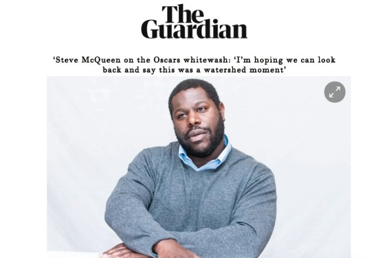 Steve McQueen on the Oscars whitewash: 'I'm hoping we can look back and say this was a watershed moment