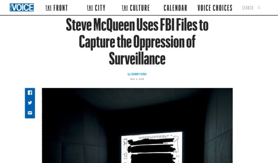 Steve McQueen Uses FBI Files to Capture the Oppression of Surveillance
