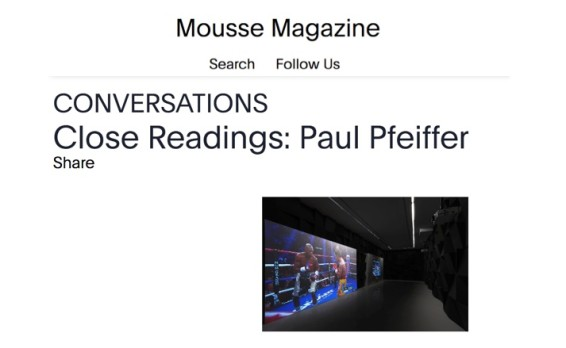 Close Readings: Paul Pfeiffer