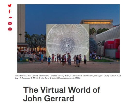 The Virtual World of John Gerrard