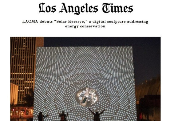 "LACMA debuts ""Solar Reserve,"" a digital sculpture addressing energy conservation"