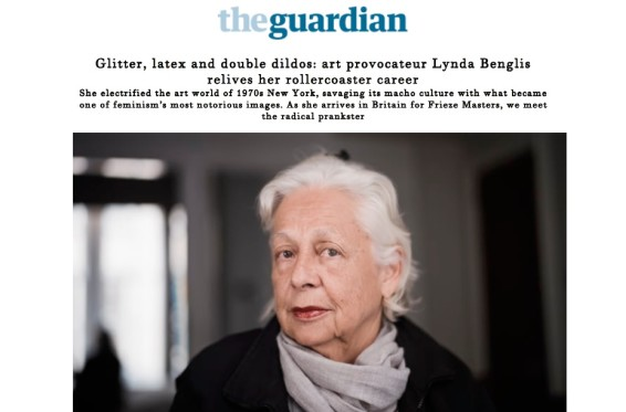 Glitter, latex and double dildos: art provocateur Lynda Benglis relives her rollercoaster career