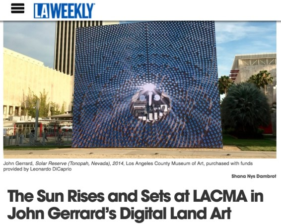 The Sun Rises and Sets at LACMA in John Gerrard's Digital Land Art