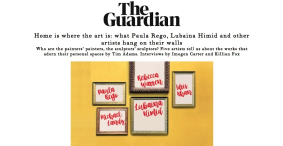 Home is where the art is: what Paula Rego, Lubaina Himid and other artists hang on their walls