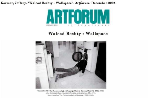Walead Beshty : Wallspace