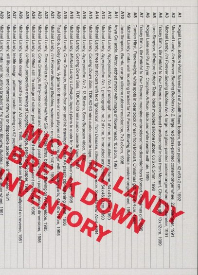 Michael Landy: Break Down Inventory