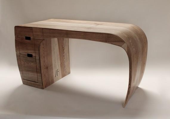 Ash Ebony Stained Grain Desk