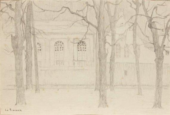 """Etude pour """"L'Orangerie""""; Bruges, 1899"""