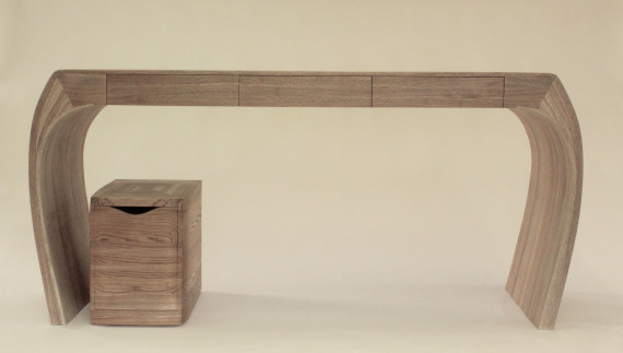 Ash Desk and storage unit, 2016