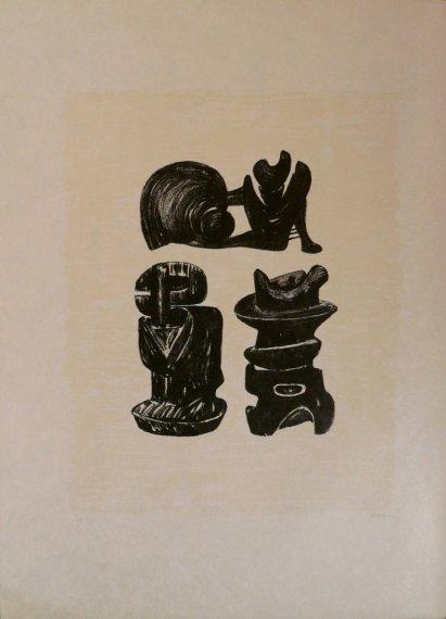 Three Sculptural Forms, 1973