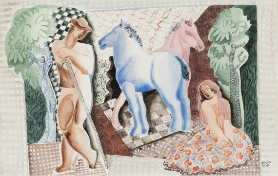 Landscape With Two Horses, 1950