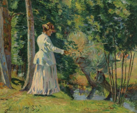 Madame Guillaumin pêchant, c.1894