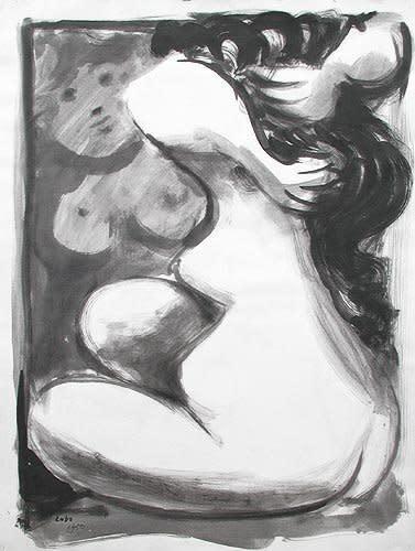 Nu devant un miroir, 1950
