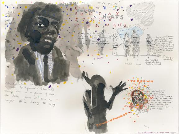 Confetti Drawing (when color hurts), 2016