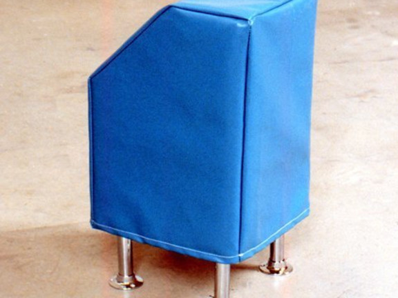 Turquoise leatherette box (2001) + Our official instruction (Associative Photograph #1), 2004, 2001-2004